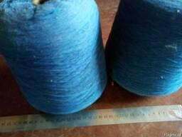Нитки -пряжа хб синяя в бобинах