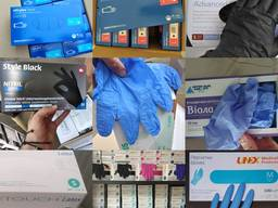 Нитриловые перчатки Mercator Medical nitrylex bAsic L M XL S