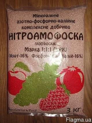Нитроаммофоска 3 кг пакет Марка:16-16-16