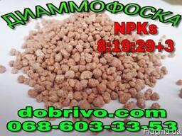 Нитроаммофоска (диаммофоска) NPKs 8-19-29 3 (пр-во Беларусь)