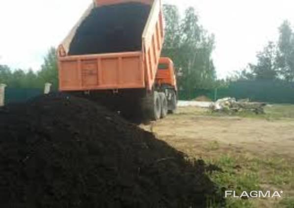 Продам чернозем, плодородный грунт с доставкой самосвалами