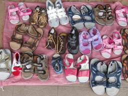 Новая детская обувь из Европы на вес в миксах по 17.5 ев/кг