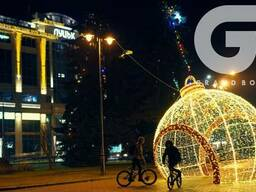 Новогодние светящиеся фигуры для улицы Украина.