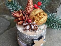 Новогодний подарок композиция декор
