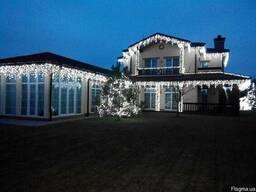 Новогоднее оформление фасадов, новогодняя иллюминация