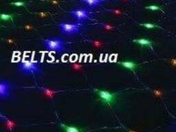 Новогодняя разноцветная гирлянда сетка 600 LED