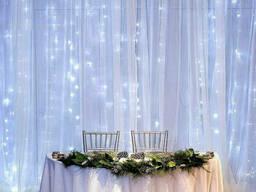 """Новогодняя свадебная cветодиодная гирлянда шторка дождь """"Водопад"""" YS-84003 240 LED 2х2. .."""