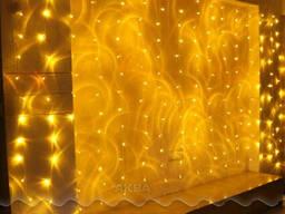 Новогодняя светодиодная гирлянда-штора 144 LED 2 м. *1. 1 м. ж
