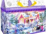 Картонная коробка для новогодних подарков и конфет - фото 1