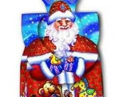 Новогодняя упаковка из картона 2019 Дед Мороз 450-500 г