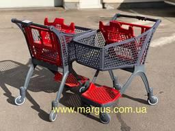 Новые пластиковые Испанские тележки для покупателей модель Р 100