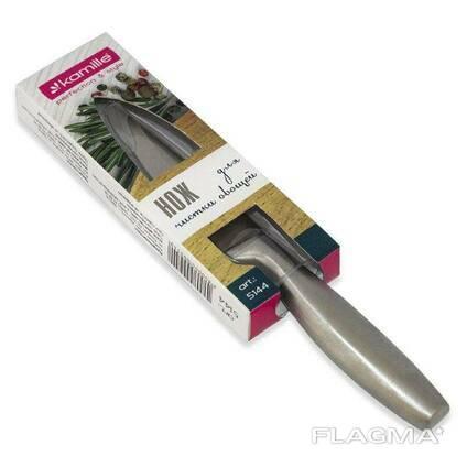 Нож из нержавеющей стали с полой ручкой Kamille 9 см
