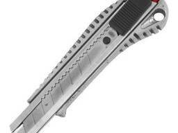 Нож с отломным лезвием 18 мм, с металлической. ..