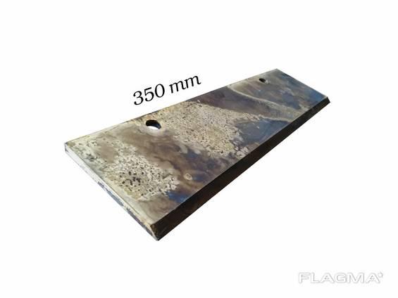 Нож шахматный для катка полевого рубящего измельчителя 35 см для КЗК-6-06