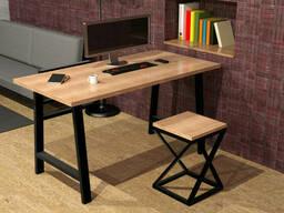 """Деревянный стол """"Alpha"""" в стиле LOFT с металлическими ножками от производителя"""