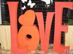 Объемные свадебные буквы,цифры, рамки,сердечки из пенопласта