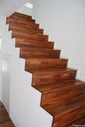 Облицовка лестниц деревом