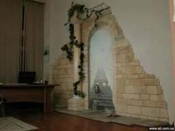 Облицовка стен, облицовка стен камнем Киев, облицовка