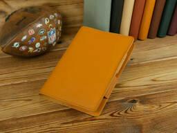 Обложка для ежедневника формата А5, Модель № 12, кожа Grand, цвет Янтарь