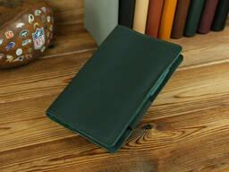 Обложка для ежедневника формата А5, Модель № 12, кожа Grand, цвет Зеленый