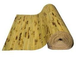 Обои бамбуковые, черепаховые светлые 17мм, ширина 1 м