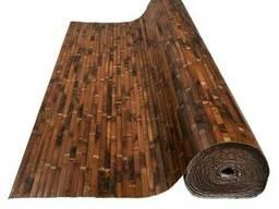 Обои бамбуковые, черепаховые темные 17мм, ширина 1 м