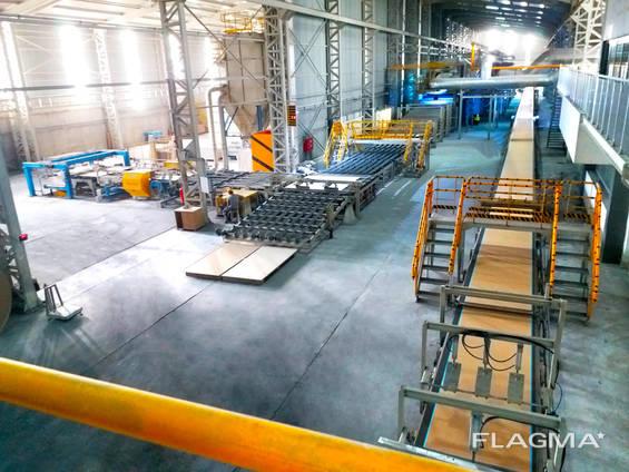 Технологическая линия для производства гипсокартона завода Эрба Макина, Турция