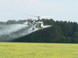 Авиа обработка рапса вертолетами