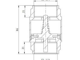 "Обратный клапан SD Forte 1"" 1/4 EURO SF247W32"