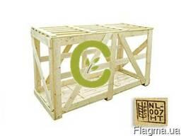Обрешетка деревянной тарой для экспорта
