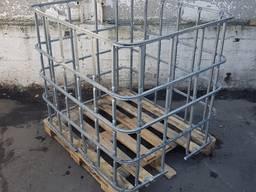 Обрешетка с деревянным поддоном (Еврокуб)