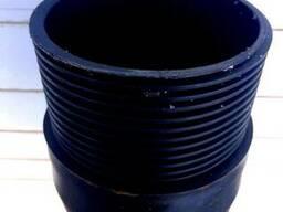 Обсадная труба для скважин D130 мм пластик. с резьбой(t=7мм)