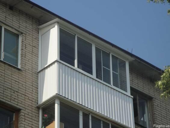 Балконы под ключ, обшивка, откосы