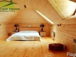 Обшивка деревянной вагонкой балконов, стен, потолка, откосо
