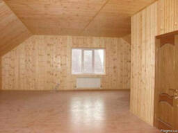 Обшивка деревянной вагонкой стен, потолка, откосов