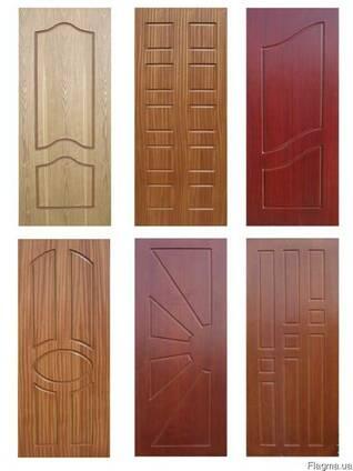Обшивка дверей МДФ карточками.