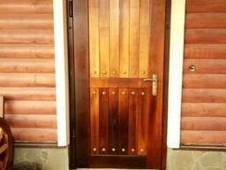 Обшивка на двери из термообработанного ясеня