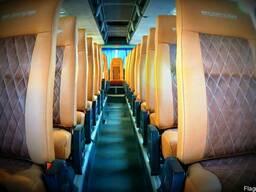 Обшивка перетяжка салона Neoplan Setra, перетяжка сидений ав