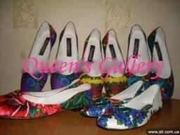 Обувь в стиле Матрешка Love. Балетки.