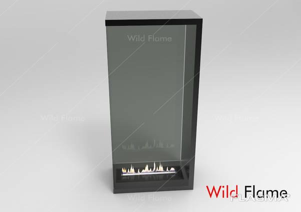 Очаг Родос Black (под биокамин) Wild Flame 1400 мм