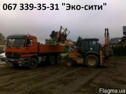Очистка территории Киев. . Выкорчевка пней.