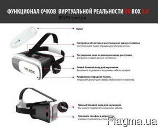 Очки виртуальной реальности с пультом 3D VR BOX 2