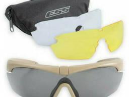 Очки защитные стрелковые ESS Crosshair 3LS Kit Terrain Tan