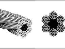 Оцинкованный стальной канат DIN 3060 (6x19)