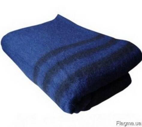 Одеяло армейское полушерстяное 130х205см