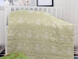 Одеяло Тканое Мишки (Светло-Зеленое) 110х110см арт.137652