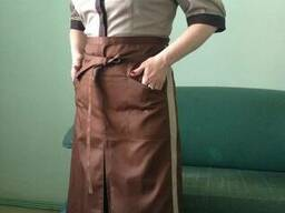 Костюм для официантов, поваров: блуза фартук, мужской, женский