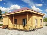 Одноэтажные Дачные Дома/Домики из Дерева - фото 1