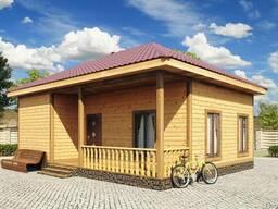 Одноэтажные Дачные Дома/Домики из Дерева