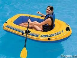 Одноместная лодка надувной intex challenger - 1 68365